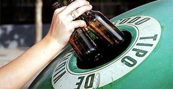 Botellas de Vidrio Puntos de reciclaje