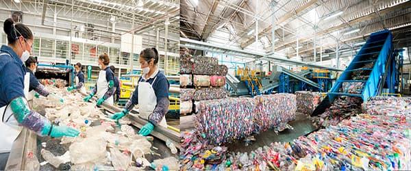compra de plástico Puntos de Reciclaje